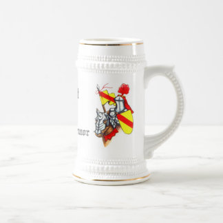 Knight in Shining Armor Art and Text Beer Stein