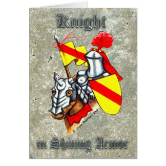 Knight in Shining Armor Painting Card