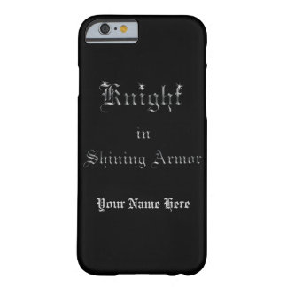 Knight in Shining Armor Silver Look on Black Barely There iPhone 6 Case