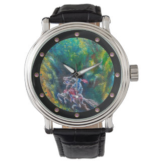 KNIGHT LANCELOT ,HORSE RIDING IN GREEN FOREST WATCH