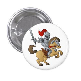 Knight on Horse 1 Inch Round Button