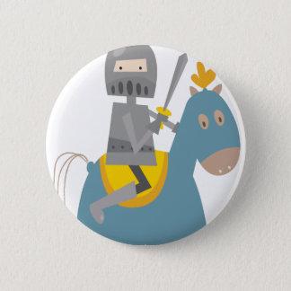 Knight on Horse 2 Inch Round Button