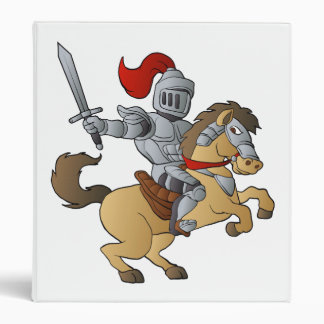 Knight on Horse 3 Ring Binders