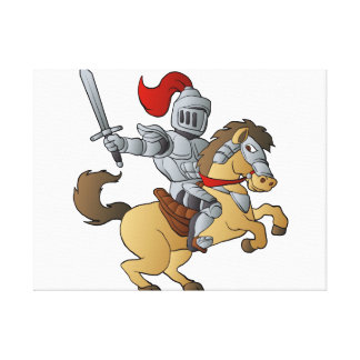 Knight on Horse Canvas Print