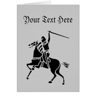 Knight On Horse Silhouette Card