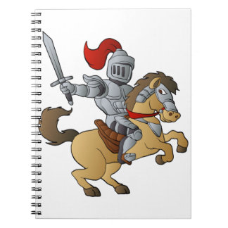 Knight on Horse Spiral Notebook