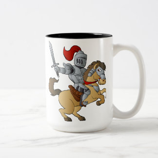 Knight on Horse Two-Tone Coffee Mug