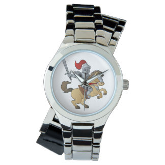 Knight on Horse Wrist Watches