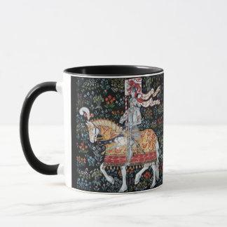 Knight on Horseback Mug Tile Montecute Tapestry