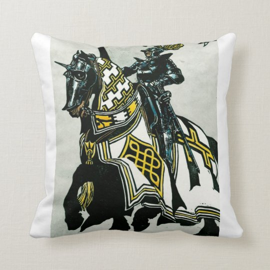 Knight On Horseback Throw Pillow