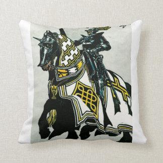 Knight On Horseback Throw Pillow