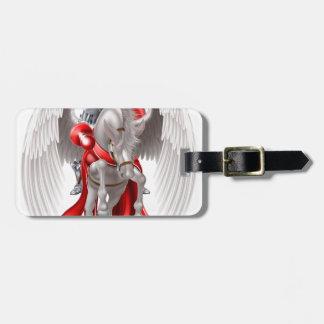 Knight on Pegasus Horse Luggage Tag