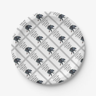 KNIGHT PAPER PLATE