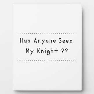 Knight Plaque