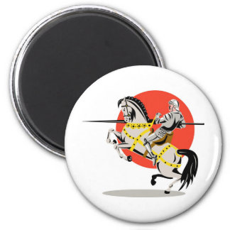 knight rider riding horse retro magnet