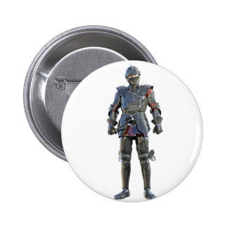 Knight Standing and Looking Forward 2 Inch Round Button