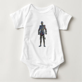 Knight Standing and Looking Forward Baby Bodysuit