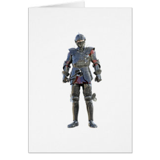Knight Standing and Looking Forward Card