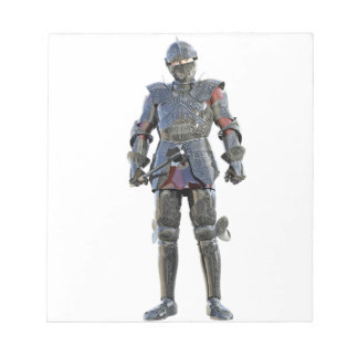 Knight Standing and Looking Forward Notepad