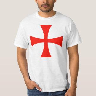 Knight Templar Cross White T-Shirt