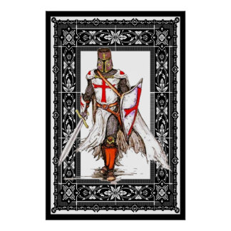 knight templar in armor poster