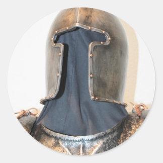 Knight Templar Round Sticker