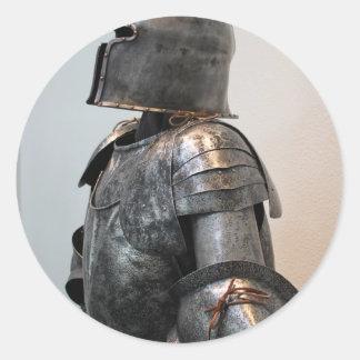 Knight Templar Two Round Sticker