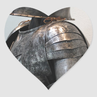 Knight Templar Two Heart Stickers