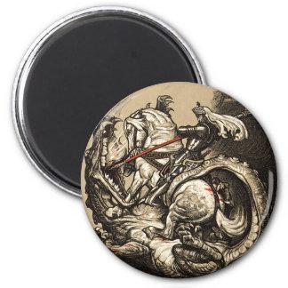 Knight vs. Dragon Magnet