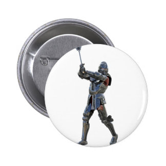 Knight walking to the right with mace 2 inch round button