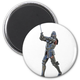 Knight walking to the right with mace 2 inch round magnet