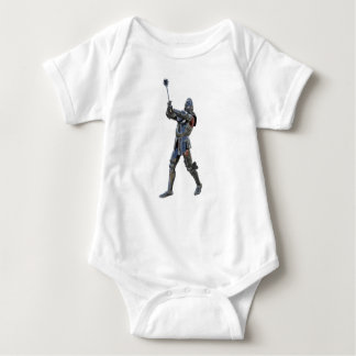 Knight walking to the right with mace baby bodysuit