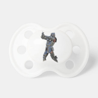 Knight walking to the right with mace pacifiers