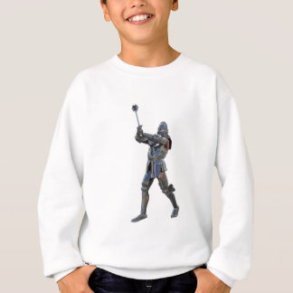 Knight walking to the right with mace sweatshirt