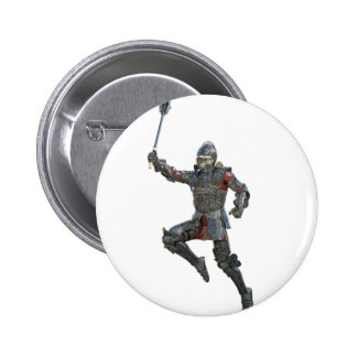 Knight with Mace Leaping to The Right 2 Inch Round Button