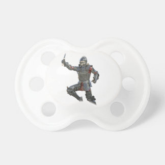 Knight with Mace Leaping to The Right Baby Pacifier