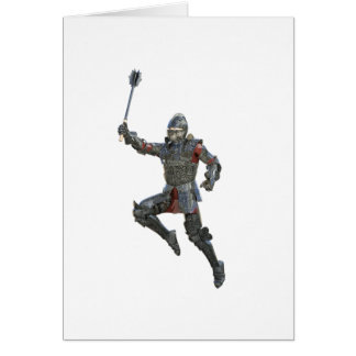 Knight with Mace Leaping to The Right Card
