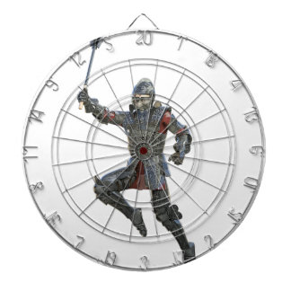 Knight with Mace Leaping to The Right Dartboard