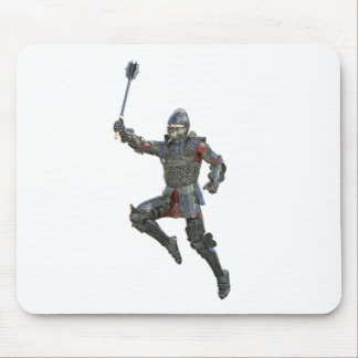 Knight with Mace Leaping to The Right Mouse Pad