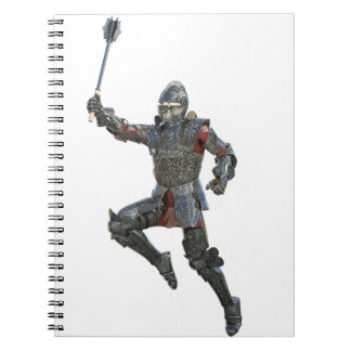 Knight with Mace Leaping to The Right Notebook