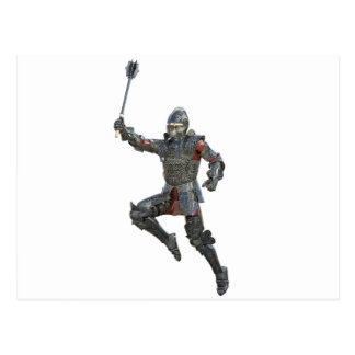 Knight with Mace Leaping to The Right Postcard