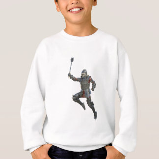 Knight with Mace Leaping to The Right Sweatshirt