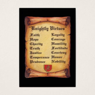 Knightly Virtues Business Card