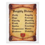 Knightly Virtues Poster