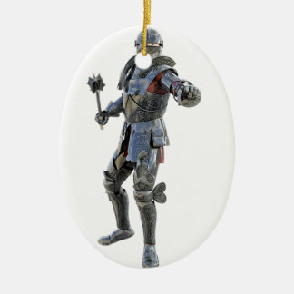 Knights Challenge to His Opponent Ceramic Ornament