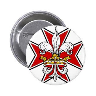 Knights Cross 2 Inch Round Button