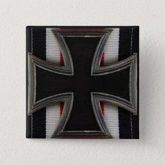 Knight's Cross 2 Inch Square Button