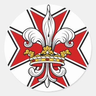 Knights Cross Round Sticker