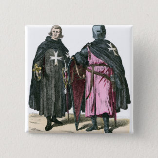 Knights from the Order of St John 2 Inch Square Button
