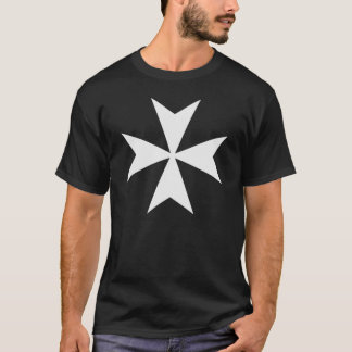 Knights Hospitaller Big Cross Black Shirt